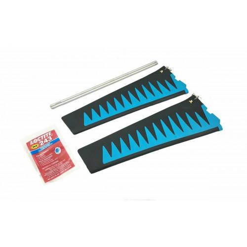 Kit de Barbatanas Turbo para Mirage Drive V2/GT Azul / Preto  - St-Turbo Fin Kit V2/GT - Blue/Black